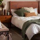 Modern Bedroom Wood Platform Bed frame