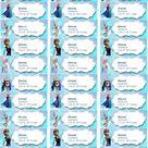 Disney Frozen Printable Address Label | Etsy