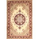 Bloomsbury Market Desbois Traditional Brown/Beige Area Rug, Wool/Polyester in Ivory/Cream/Brown, Size Rectangle 7' x 9' | Wayfair