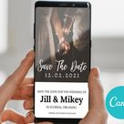Custom Phone Save The Date | Text Message Save The Date | Electronic Wedding Invitation | Save Our Date E-Vite