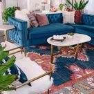 Blue Couch | Home Decor Aesthetic | Colorful | Boho Style | House Decoration