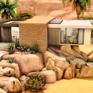 I built this modern desert house (no cc) in oasis springs 🌵 what do you think ?