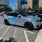 BMW X4 with Holographic Chrome wrap is... interesting