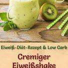 Kiwi-Apfel-Eiweißshake - Low-Carb-Eiweiß-Diät-Rezept zum Abnehmen