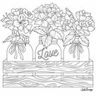 Flowers Crafts Coloring Sheets 63 Super Ideas - Blogx.info