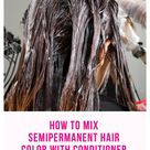 What happens if you mix conditioner with hair dye