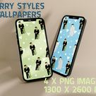 4 iPhone Wallpapers Digital Download , Harry Styles Colorful Wallpaper, Samsung, iPhone