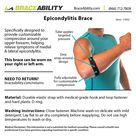 Epicondylitis Brace   Elbow Strap for Medial / Lateral Epicondyle Arm Pain & Tendonitis