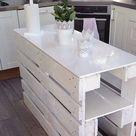 Streichen Sie Paletten in einer weißen Farbe damit sie noch moderner aussehen… 10 sehr schöne Beispiele um selbst nach zu machen! – DIY Bastelideen - Pallet Diy