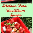 Melonen-Feta-Basilikum Spieße