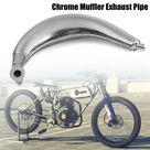 Generico Chrome silenciador del extractor del tubo por 80cc 66cc 49cc
