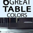 6 Great Paint Colors for Kitchen Tables - Painted Furniture Ideas