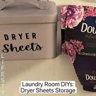 Laundry Room DIYs: Dryer Sheets Storage