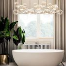 BATHROOM IDEAS - Luxurious ambiance with a spa vibe.