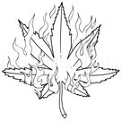 How To Draw A Pot Leaf, Step by Step, Drawing Guide, by Dawn