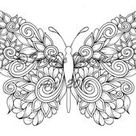 Tangled Butterflies Coloring Pack