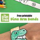 printable dinosaur paper bracelet - The Craft Train