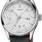 Oris Artelier Pointer Day Date 01 755 7742 4051-07 5 21 34FC Men's 40mm Watch in Silver, Steel by Exquisite Timepieces