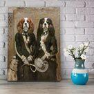 Twins, Grace and Kate Hoare two pets portrait   Canvas Wrap 24x36