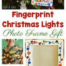 Fingerprint Christmas Light Photo Frame Craft