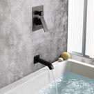 Matte Black 8 inch shower head and bathtub spout shower faucet combos