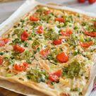 Flammkuchen mit Pesto