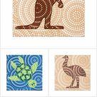 Aboriginal dot pictures!