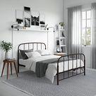 Queen Larissa Metal Bed Bronze - Room & Joy