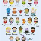 Princesses parody alphabet sampler  Cross stitch PDF pattern | Etsy