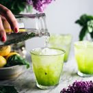 Cucumber Basil Sparkling Lemonade  — The Broken Bread