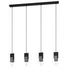 Fitore 4-Light Kitchen Island Bulb Pendant with Wood Accents