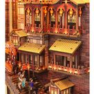 Chinese Alley Book Nook - Chongqing Town Book Nook - Ancient Capital Book Shelf Insert - Book Scenery - Bookcase with LED Model Building Kit