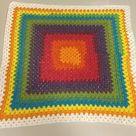 Rainbow crochet baby blanket handmade