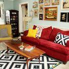 Rotes Sofa ins Innendesign einbeziehen - Inspirierende rote Sofas