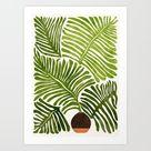 Summer Fern / Simple Modern Watercolor Art Print by Modern Tropical - X-Small
