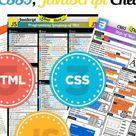 Useful HTML5   CSS3   JavaScript Cheat Sheets HD