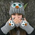 Crocheted Owls