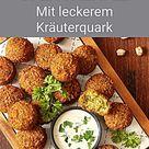 Gesunde Ofen Falafel mit Kräuterquark - Fitness Rezept zum Abnehmen | Rezepte, Gesunde snacks rezept
