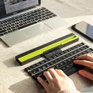 Foldable Wireless Rollable Bluetooth Keyboard - Red