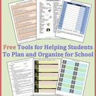 Free Tools for Helping Students to Plan and Organize for School