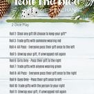 Roll The Dice Gift Exchange Printable, Virtual White Elephant Gift Exchange Game, Christmas Party Games, Christmas Activities, Holiday Party
