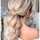 wedding hair accessories ponytail