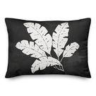 Bayou Breeze Leaf Texture On Indoor/Outdoor Throw Pillow Black 14.0 x 20.0 x 1.5 in   Wayfair Canada