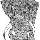 Elephant patterns - Elephants Coloring Pages for Adults - Just Color