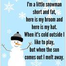 Snowman Song - FREE Printable