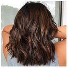 chocolate brown hair with lowlights
