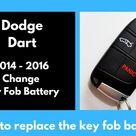 Dodge Dart Key Fob Battery  Ten Things You Won't Miss Out If You Attend Dodge Dart Key Fob Battery - AH – STUDIO Blog