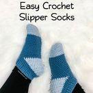 Easy Crochet Slipper Socks for Beginners — Left in Knots
