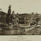 Anonymous, 1867 - Panorama of the Buttes-Chaumont, 19th arrondissement, Paris. - fine art print - Poster print (canvas paper) / 60x30cm - 24x12