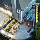 Patio Design Ideas | Pavers | Retaining Walls | Patio Photos | Stone | Blue Stone Patio | Water Fall